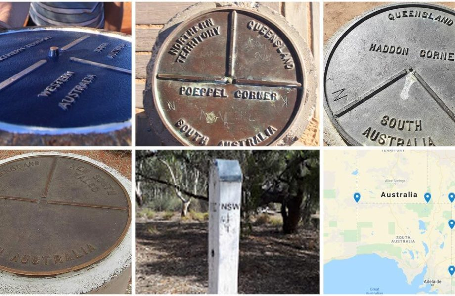 5 border corners of australia