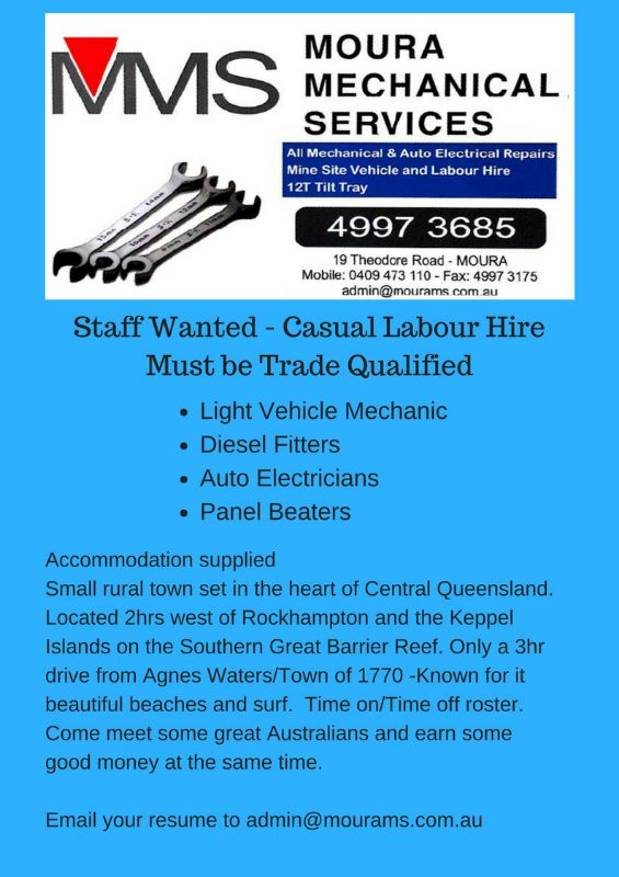 Lv Mechanic, Diesel Fitter, Auto Electrician, Panel Beater