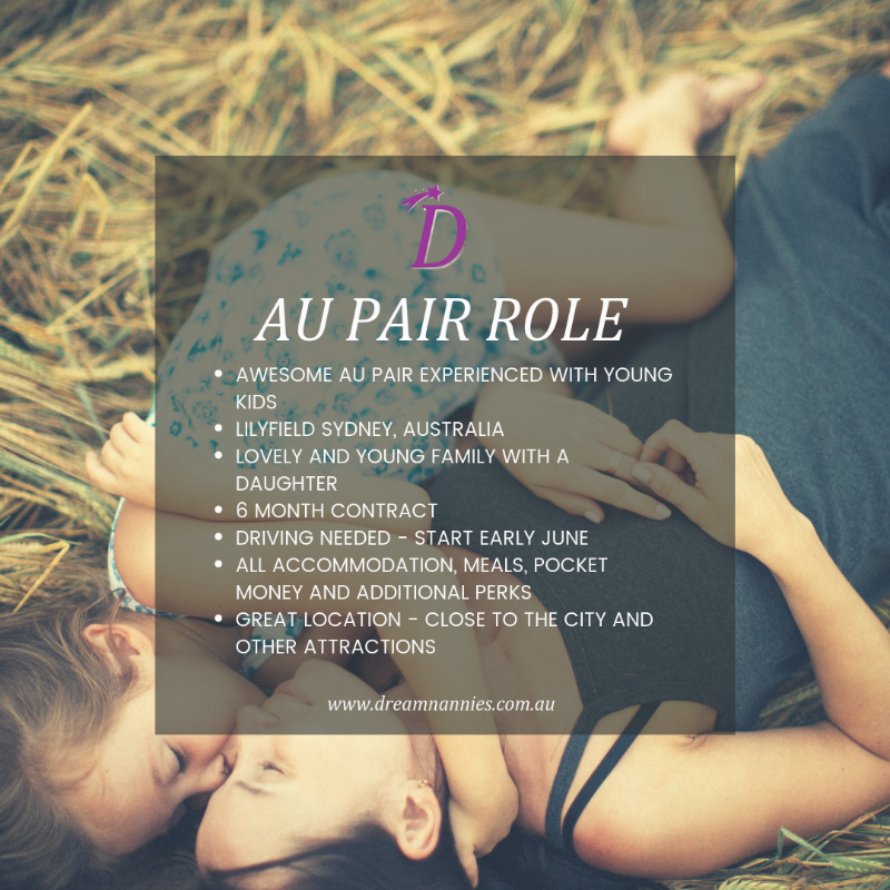 Au Pair Needed In Lilyfield Sydney With Fabulous Perks - Early June