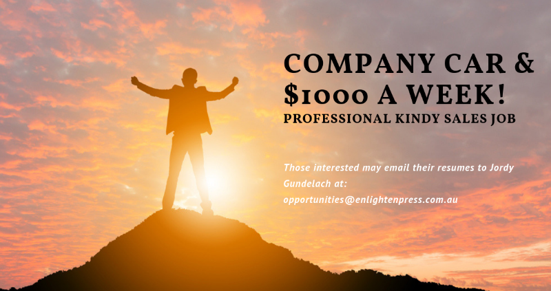 $1000 A Week + Extra Commission + Company Car + A Lot Of Fun!
