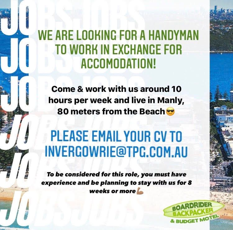 Handyman Wanted For Hostel - Work For Accomodation!