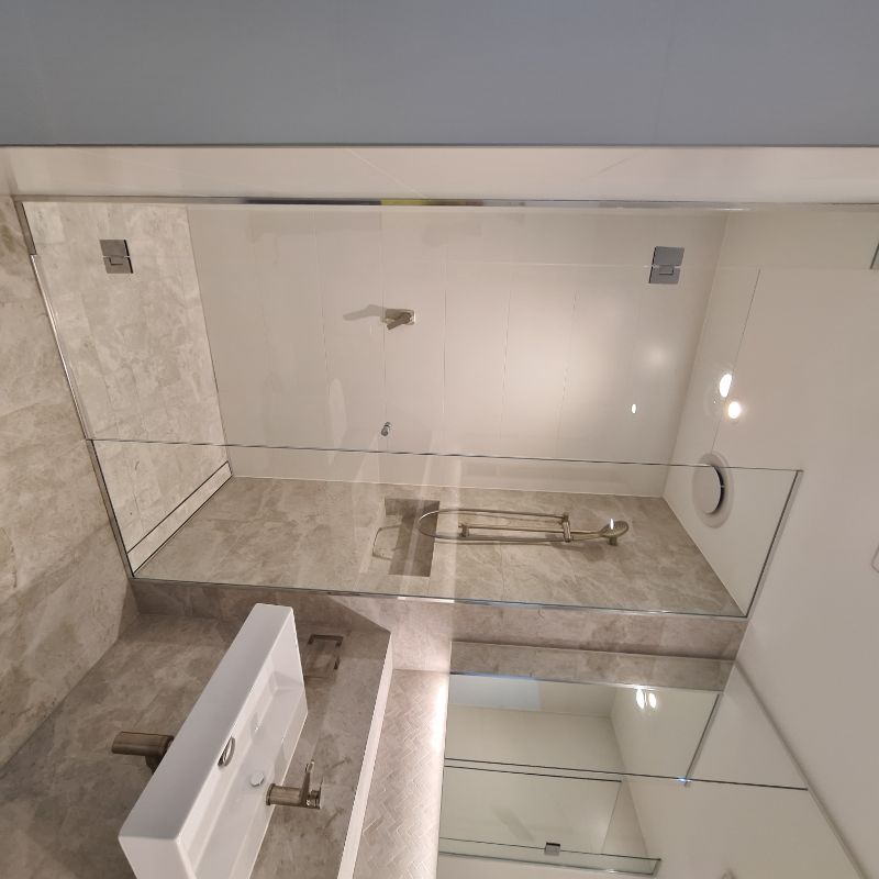Shower Screen Installations - Semi Frameless &/or Frameless