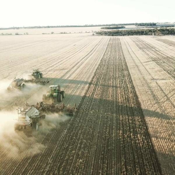 Tractor Airseeder Driver Seeding