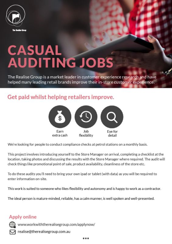 Retail Store Auditor - Regional Audits