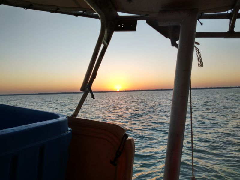 Helping Hand On Fishingboat